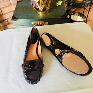 Kate Spade NY Chocolate flat size 6.5  Never worn